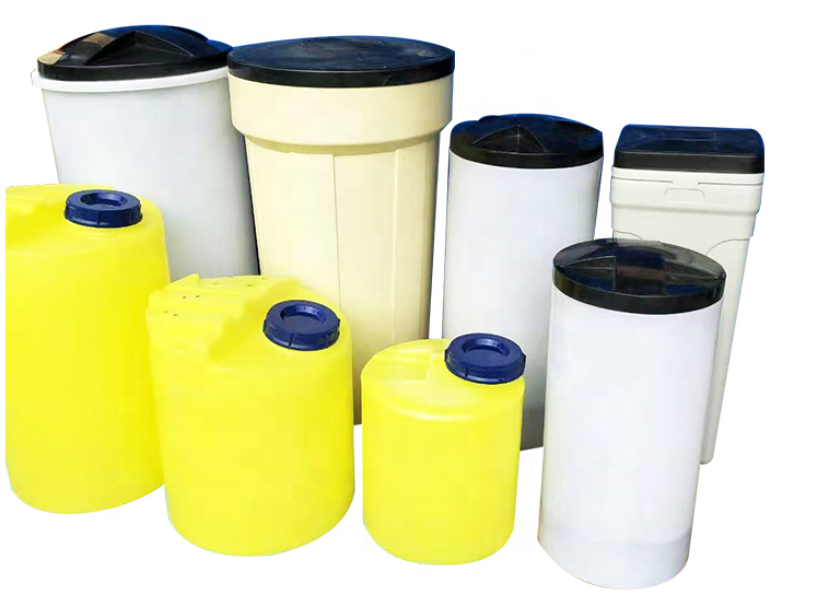 Circular and square White Color Water Softener Pe Brine Salt Tank