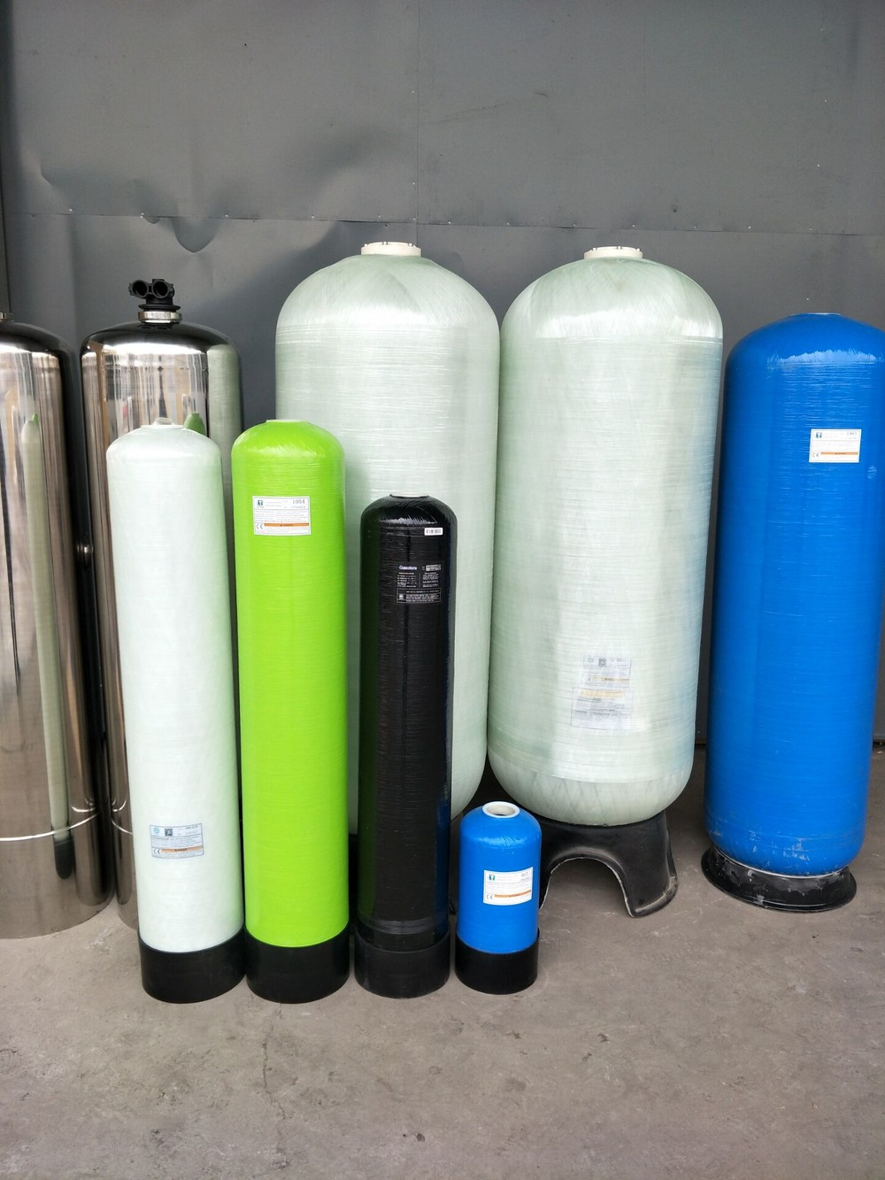 Big Frp Or Stainless Steel Water Soften Tank Price Low
