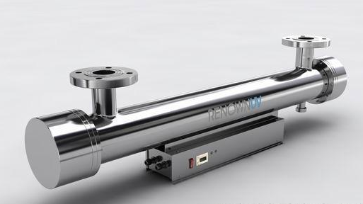 Domestic and industrial sewage treatment with pipeline UV sterilizer