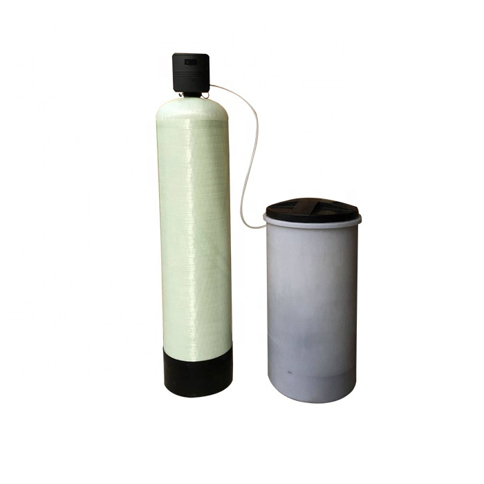 Equipment for softening groundwater of well water treatment water softener