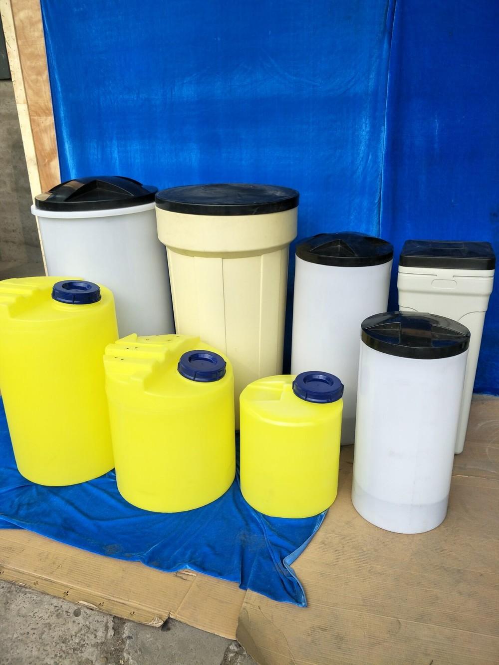 PE salt tank water softener water equipment white round Salt tank 60L-200L